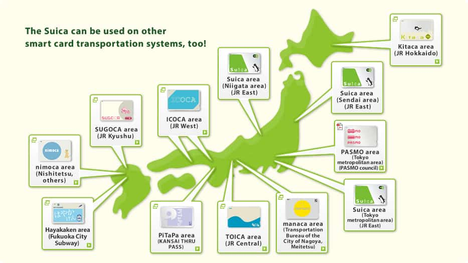 Suica Card Travel Map