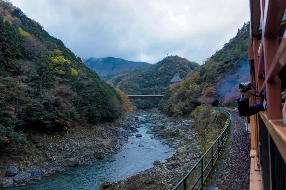 View of the Hozugawa River from the train